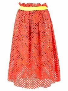 Kolor mesh layered skirt - Multicolour
