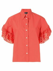 Kolor laser cut sleeves shirt - ORANGE