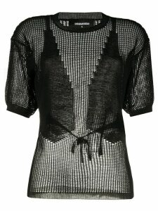 Dsquared2 knitted mesh top - Black