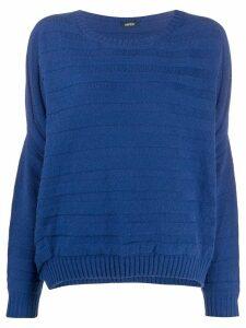Aspesi textured knit jumper - Blue