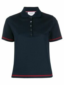 Thom Browne stitched polo shirt - Blue