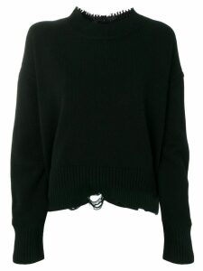 Helmut Lang grunge crew sweater - Black