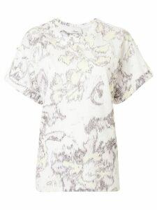 3.1 Phillip Lim abstract daisy print T-shirt - White