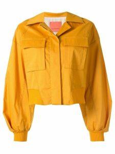 Manning Cartell boxy fit cropped shirt jacket - Yellow