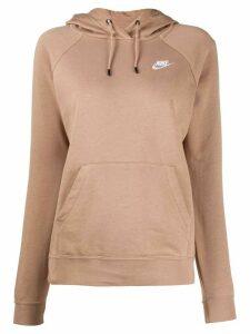 Nike plain crew neck hoodie - NEUTRALS