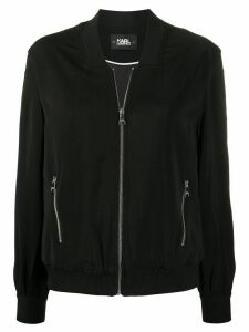 Karl Lagerfeld snap-sleeve bomber jacket - Black