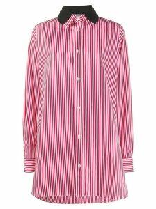 Plan C oversized striped shirt - Red