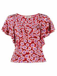 DVF Diane von Furstenberg Lydia floral blouse - Red