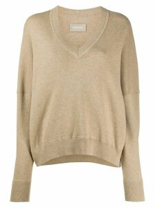 Zadig & Voltaire Brumy v-neck jumper - NEUTRALS