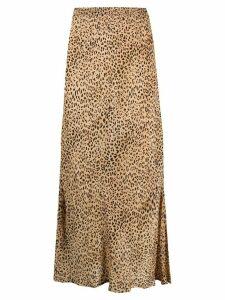 Mes Demoiselles leopard print maxi skirt - NEUTRALS