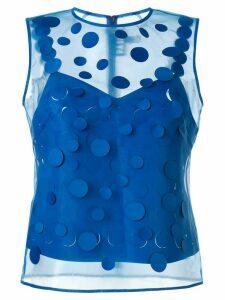 Paskal laser-cut blouse - Blue