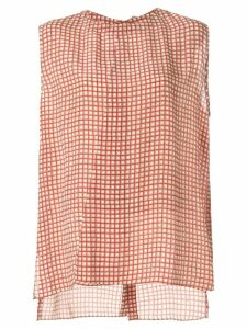 Marni grid tank top - Red