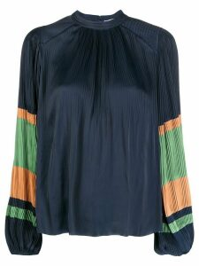 Ulla Johnson Rosa pleated loose-fit blouse - Blue