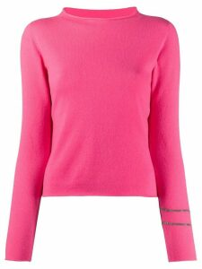 Fabiana Filippi Mad sleeve stripe jumper - PINK