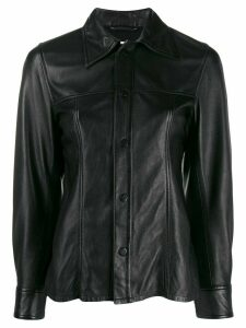 Ami Paris smooth leather overshirt - Black