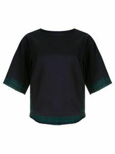 Coohem Madras Tech tweed pullover - Blue