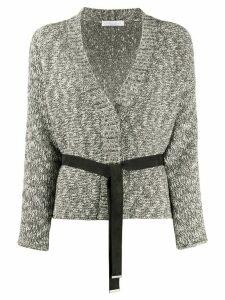 Fabiana Filippi belted cardigan - Grey
