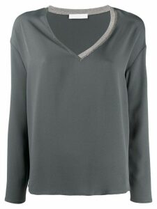 Fabiana Filippi asymmetric collar jumper - Blue