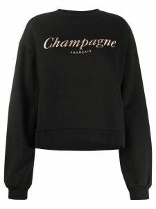 Être Cécile Champagne Alexis print sweatshirt - Black