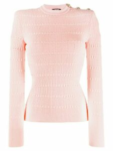 Balmain diamond-knit jumper - PINK