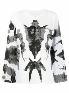 Youths In Balaclava abstract print sweatshirt - White