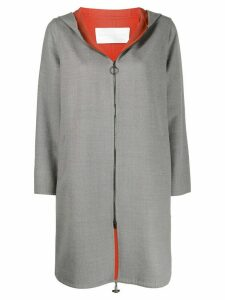 Fabiana Filippi long zip-up hoodie - Grey