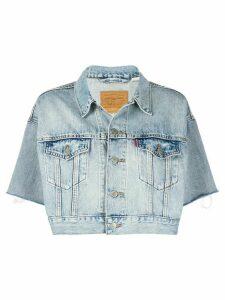 Levi's cropped short sleeve denim jacket - Blue