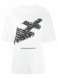 Youths In Balaclava army print T-shirt - White