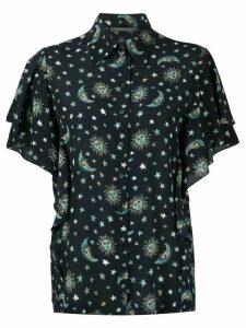 Alberta Ferretti Astro-print silk shirt - Blue