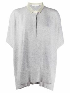Fabiana Filippi Mad batwing polo shirt - Grey