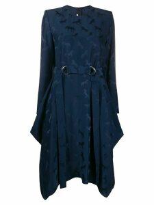 Stella McCartney horse print asymmetric dress - Blue