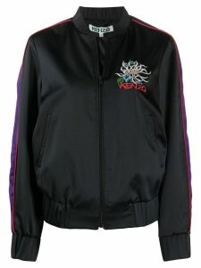 Kenzo embroidered detail teddy jacket - Black