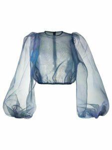 Beaufille sheer puff blouse - Blue