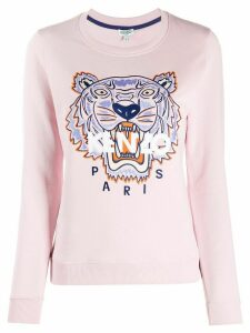 Kenzo embroidered tiger sweatshirt - PINK
