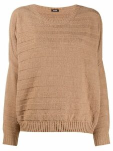 Aspesi striped knit jumper - NEUTRALS