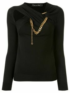 Oscar de la Renta cut out detail top - Black