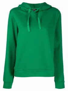 A.P.C. plain long-sleeved hoodie - Green