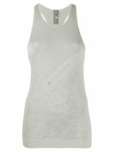 adidas X Stella McCartney knitted snakeskin-effect tank top - Grey