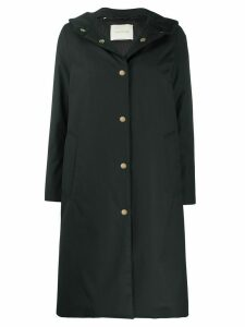Mackintosh Chryston hooded padded raincoat - Black