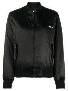 MSGM logo-print bomber jacket - Black