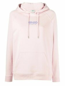 Kenzo logo print hoodie - PINK