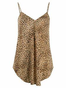 Mes Demoiselles leopard print vest - NEUTRALS