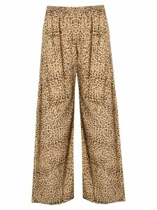 Mes Demoiselles leopard print palazzo trousers - NEUTRALS