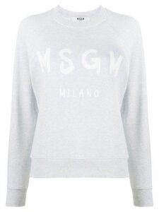 MSGM brushstroke-logo raglan sleeved sweatshirt - Grey