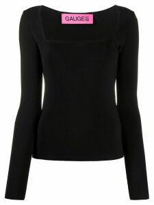 GAUGE81 plain fitted blouse - Black