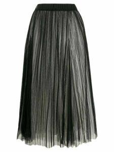 Brunello Cucinelli full shape pleated tulle skirt - Black