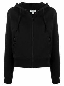Kenzo logo print hoodie - Black