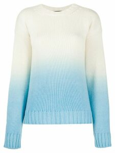 Alanui Wave Life gradient jumper - White