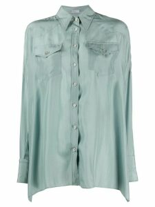 Brunello Cucinelli loose fit shirt - Blue