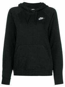 Nike stitched logo hoodie - Black